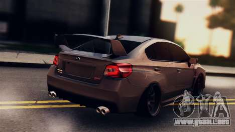 Subaru Impreza WRX STI 2015 para GTA San Andreas left