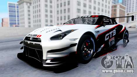 Nissan GT-R (R35) GT3 2012 PJ2 para vista inferior GTA San Andreas