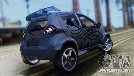 Toyota Aygo Sporting para GTA San Andreas left