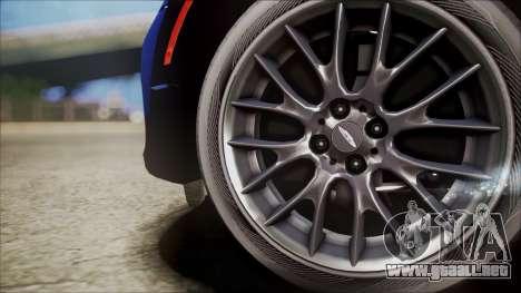 Mini Cooper Clubman 2011 Sket Dance para GTA San Andreas vista hacia atrás