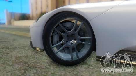 Ford GT 2017 para GTA San Andreas vista posterior izquierda