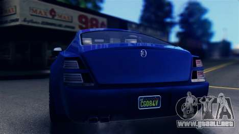 GTA 5 Enus Windsor IVF para GTA San Andreas vista posterior izquierda