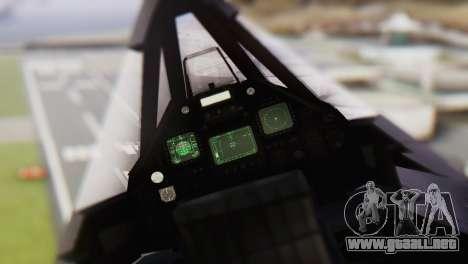 Lockheed F-117 Nighthawk ACAH para la visión correcta GTA San Andreas