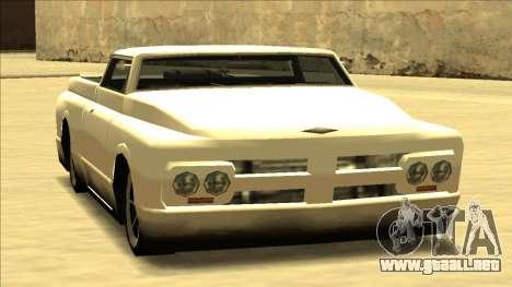 Slamvan Final para GTA San Andreas vista hacia atrás
