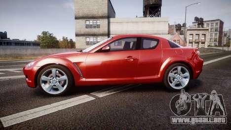 Mazda RX-8 2006 v3.2 Advan tires para GTA 4 left