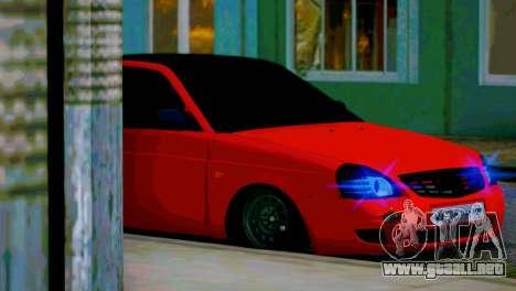 Lada 2170 Priora Spartak De Moscú para GTA San Andreas interior