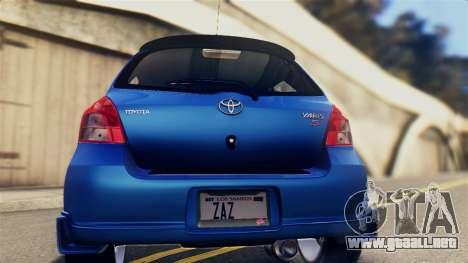 Toyota Yaris S 2008 para la visión correcta GTA San Andreas