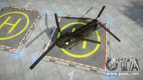 Boeing CH-47G Chinook [EPM] para GTA 4 Vista posterior izquierda