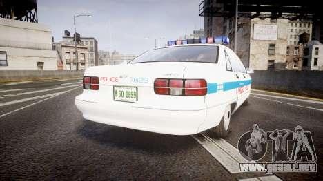 Chevrolet Caprice Chicago Police [ELS] para GTA 4 Vista posterior izquierda