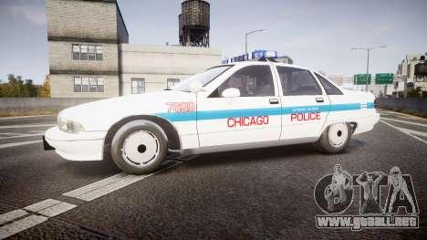 Chevrolet Caprice Chicago Police [ELS] para GTA 4 left