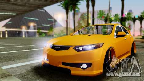 Acura TSX Hellaflush 2010 para GTA San Andreas left