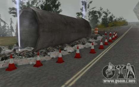 La reparación de los caminos para GTA San Andreas sucesivamente de pantalla