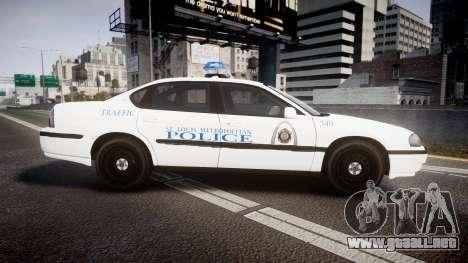 Chevrolet Impala Metropolitan Police [ELS] Traf para GTA 4 left