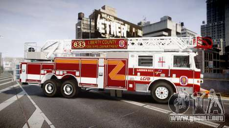 Pierce Arrow XT Ladder 2013 [ELS] para GTA 4 left