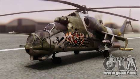 Mil Mi-24V Czech Air Force Tigermeet para GTA San Andreas