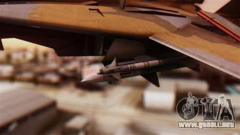 F-14A Tomcat NSAWC Brown para la visión correcta GTA San Andreas