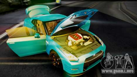 Nissan GT-R 2015 para visión interna GTA San Andreas