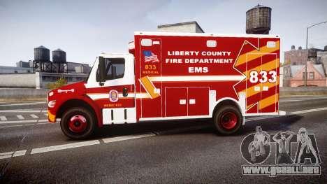 Freightliner M2 2014 Ambulance [ELS] para GTA 4 left