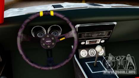Chevrolet Camaro SS Camo Drift para la visión correcta GTA San Andreas