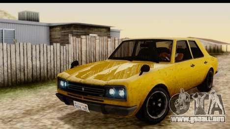 GTA 5 Vulcar Warrener SA Style para GTA San Andreas vista hacia atrás