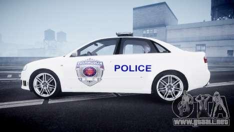 Audi RS4 Serbian Police [ELS] para GTA 4 left