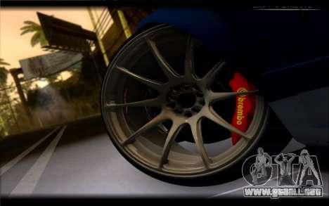 Nissan 180SX para GTA San Andreas vista posterior izquierda