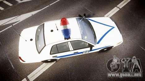 Ford Crown Victoria Indiana State Police [ELS] para GTA 4 visión correcta