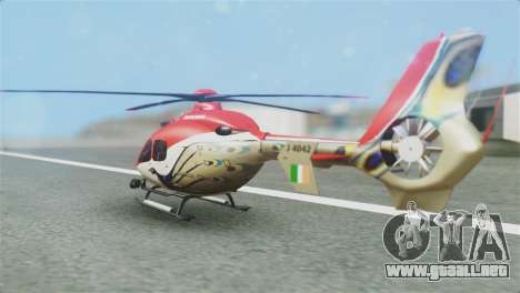 Indian Air Force EC-135 Dhruv SARANG Skin para GTA San Andreas left
