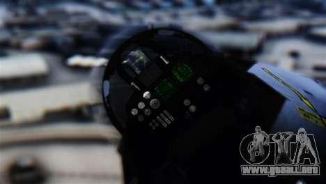 F-14D Super Tomcat Halloween Pumpkin para GTA San Andreas vista hacia atrás