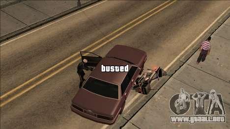GTA V Wasted and Busted Sound [CLEO] para GTA San Andreas tercera pantalla