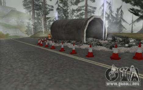 La reparación de los caminos para GTA San Andreas tercera pantalla