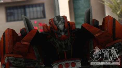 Autobot Titan Skin from Transformers para GTA San Andreas tercera pantalla
