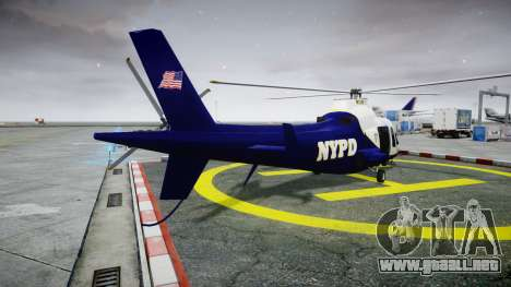 Buckingham Swift NYPD para GTA 4 Vista posterior izquierda
