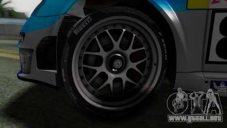 Porsche 911 GT3-RSR para GTA San Andreas vista posterior izquierda