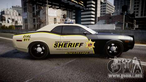 Dodge Challenger MCSO [ELS] para GTA 4 left