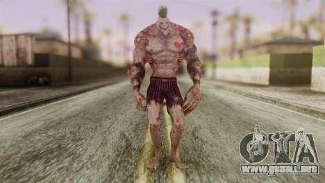 Titan Powered Joker from Batman Arkham Asylum para GTA San Andreas segunda pantalla