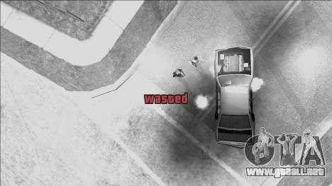 GTA V Wasted and Busted Sound [CLEO] para GTA San Andreas segunda pantalla