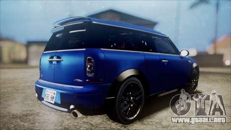 Mini Cooper Clubman 2011 Sket Dance para la visión correcta GTA San Andreas