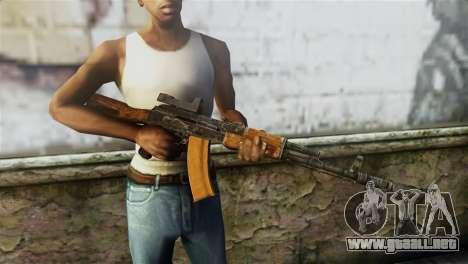 AK-74 Sight para GTA San Andreas tercera pantalla