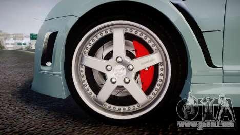 Bentley Continental GT Platinum Motorsports para GTA 4 vista hacia atrás
