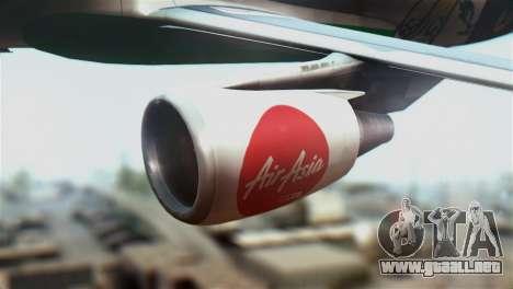 Airbus A320-200 AirAsia Line para la visión correcta GTA San Andreas