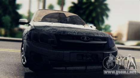 Lada 2190 Granta para GTA San Andreas vista posterior izquierda