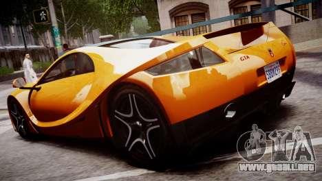 GTA Spano 2013 para GTA 4 Vista posterior izquierda