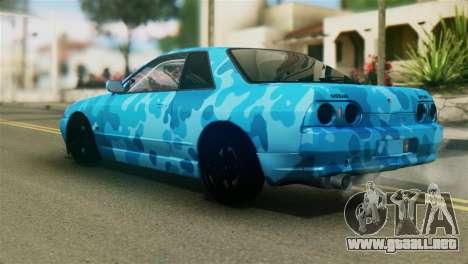 Nissan Skyline R32 Camo Drift para GTA San Andreas left