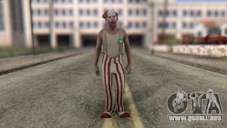 Clown Skin from Left 4 Dead 2 para GTA San Andreas