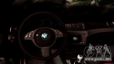 BMW M3 E46 v2 para la vista superior GTA San Andreas