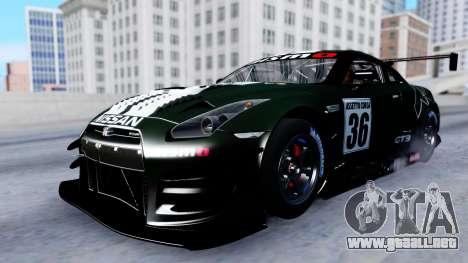 Nissan GT-R (R35) GT3 2012 PJ2 para vista lateral GTA San Andreas