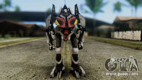 Soldier Jet Skin from Transformers para GTA San Andreas segunda pantalla
