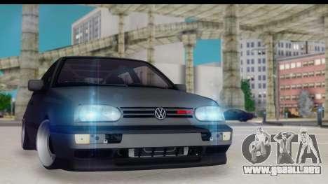 Volkswagen Golf 3 Stanced para GTA San Andreas
