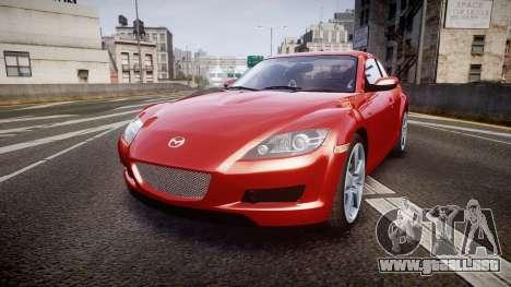 Mazda RX-8 2006 v3.2 Advan tires para GTA 4